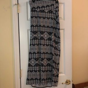 Black and white maxi skirt from Rue21